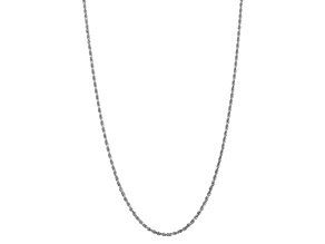 10k White Gold 3.35mm Diamond-Cut Quadruple Rope Chain 20 inches
