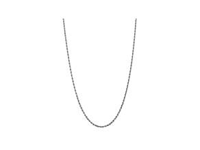10k White Gold 3.35mm Diamond-Cut Quadruple Rope Chain 20 inches