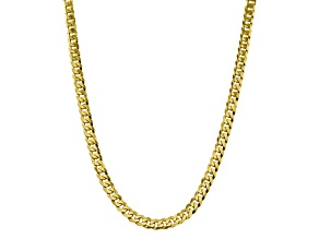 10k Yellow Gold 8.25mm Flat Beveled Curb Chain 22 inches