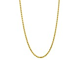 10k Yellow Gold 5mm Diamond Cut Rope Chain 20 inches