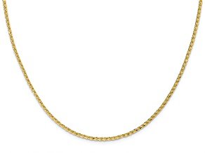 10k Yellow Gold 1.6mm Diamond-Cut Open Franco Chain 18 inches