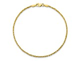 10k Yellow Gold 1.75mm Diamond Cut Rope Bracelet 7 inches