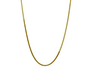 10k Yellow Gold 3mm Silky Herringbone Chain 20 inches