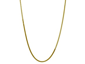 10k Yellow Gold 3mm Silky Herringbone Chain 24 inches