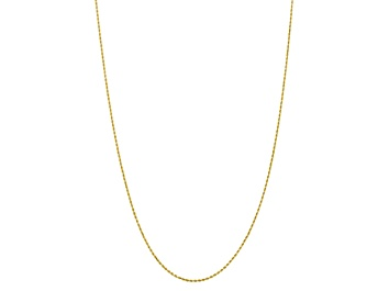 30 inch 10k Yellow Gold 1.5mm Parisian Wheat Chain 7 inch