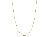 10k Yellow Gold 1.75mm Diamond Cut Rope Chain 16 inches