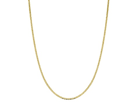 10k Yellow Gold 2.4mm Flat Anchor Chain 24 inches