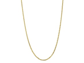 10k Yellow Gold 3mm Concave Anchor Chain 18 inches