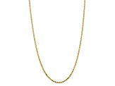10k Yellow Gold 2.9mm Flat Beveled Curb Chain 24 inches