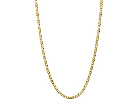 10k Yellow Gold 5.75mm Flat Beveled Curb Chain 20 inches