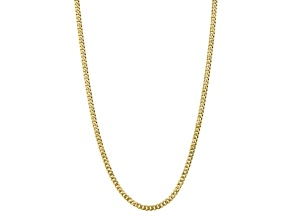 10k Yellow Gold 5.75mm Flat Beveled Curb Chain 24 inches
