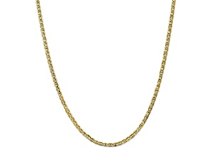 10k Yellow Gold 3mm Concave Anchor Chain 24 inches