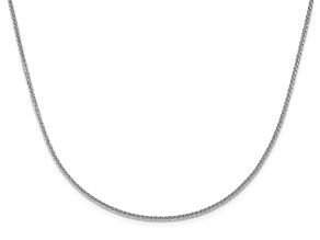10k White Gold 1.35mm Adjustable Wheat Chain 22 inches