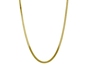 10k Yellow Gold 5mm Silky Herringbone Chain 20 inches