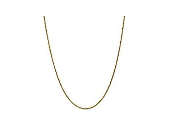 14k White Gold 1.65mm Solid Polished Spiga Chain