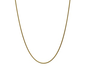 10k Yellow Gold 1.65mm Solid Polished Spiga Chain 16 inches