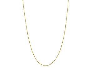 10k Yellow Gold 1.75mm Diamond Cut Rope Chain 20 inches
