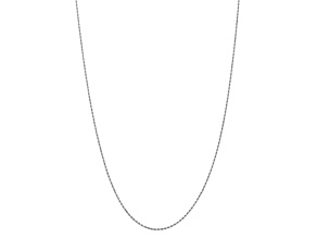 10k White Gold 1.75mm Diamond Cut Rope Chain 16 inches