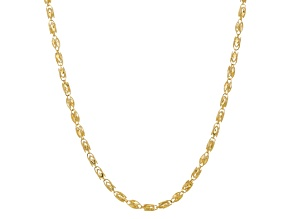 10k Yellow Gold 4mm Marquise 20 inch Chain