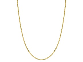 10k Yellow Gold 2.4mm Flat Anchor Chain 20 inches