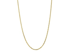10k Yellow Gold 3mm Concave Mariner Chain 20 inch