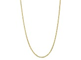 10k Yellow Gold 3mm Concave Anchor Chain 20 inches
