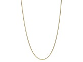 10k Yellow Gold 1.65mm Solid Polished Spiga Chain 18 inches