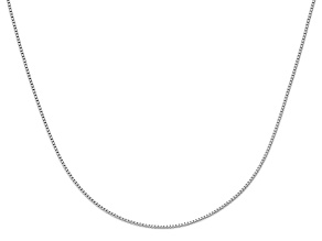 10k White Gold .9mm Adjustable Box Chain 30 inches
