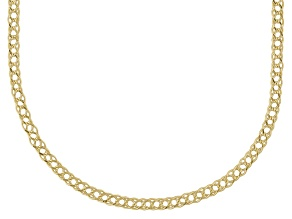 10k Yellow Gold Hollow Curb Link Chain Neckalce 24 inch