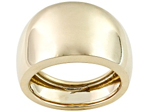 10k Yellow Gold Wide Band Ring With Tapered Shank