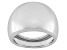 10k White Gold Hollow Comfort Fit Polished Band Ring With Tapered Shank