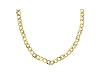 Picture of 10k Yellow Gold 4MM Curb Link 18 Inch Chain Necklace