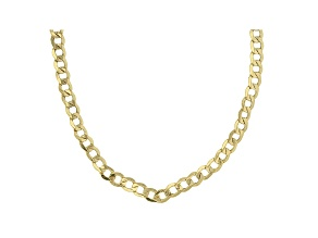 10k Yellow Gold 4MM Curb Link 18 Inch Chain Necklace