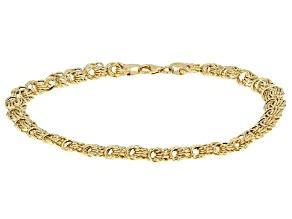 14k Yellow Gold Rosetta Bracelet 7.75 inch
