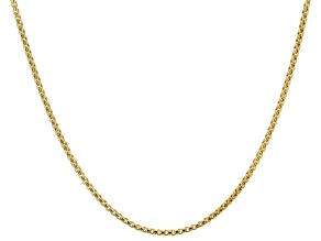 10k Yellow Gold Hollow Box Link Chain Necklace 24 inch