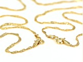 10k Yellow Gold Singapore Link Chain Set Of 2
