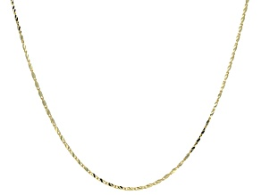 10k Yellow Gold Bar Link Chain Necklace 24 inch
