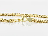 10k Yellow Gold Hollow Flat Byzantine Link Chain Necklace 18 inch 6.5mm