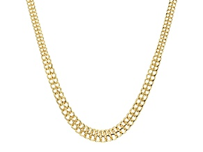10k Yellow Gold Hollow infinity Link Necklace 18 inch