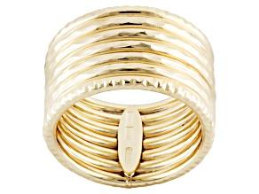 10k Yellow Gold Hollow Diamond Cut Band Ring