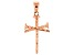10k Rose Gold Nail Cross Pendant.