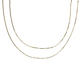 10k Yellow Gold Square Box Link Chain Set Of Two 20 inch & 24 inch