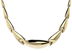 10k Yellow Gold Graduated Stampato Necklace 18 inch