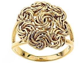 10k Yellow Gold Hollow Rosetta Ring