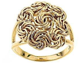 10k Yellow Gold Hollow Rosetta Ring