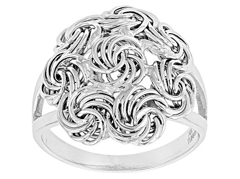10k White Gold Hollow Rosetta Ring