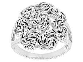 10k White Gold Hollow Rosetta Ring