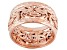10k Rose Gold Hollow Byzantine Link Band Ring