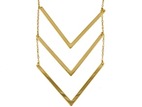 10k Yellow Gold Chevron Necklace 18 inch