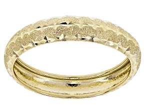 10k Yellow Gold Diamond Cut Band Ring